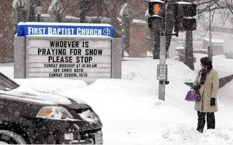 Whoever is praying for snow, please stop!