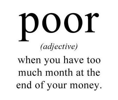 Definition of poor.