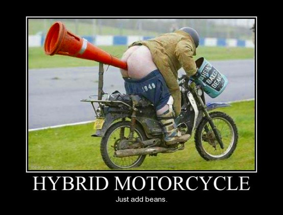 Hybrid Motorcycle: Repurposing, Green, Biofuel, Reclamation, Self Powered, Natural, Alternative
