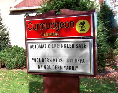 Curmudgeon Industries: Automatic Sprinkler Sale