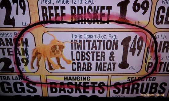 Imitation Crab Meat ... maybe.