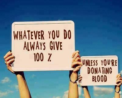 Very reasonable advice on giving 100% ...
