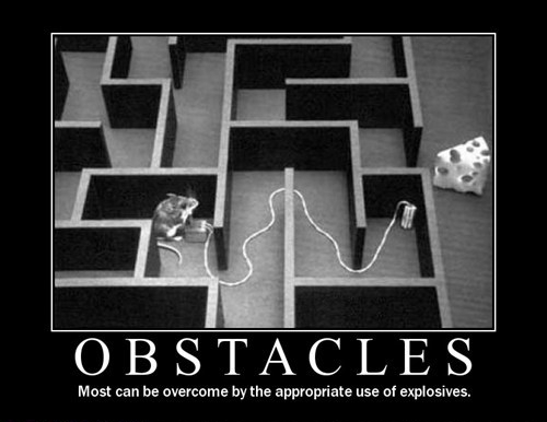 With the appropriate use of explosives, there are no obstacles!