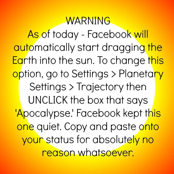 Newest Facebook Warning