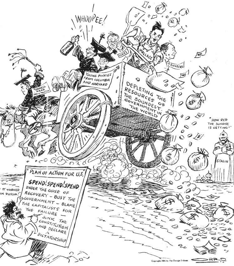 Chicago Tribune, 1934 Political Cartoon